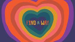 Find a Way Wallpaper with Layered Hearts