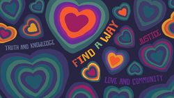 Find a Way Wallpaper with Many Hearts